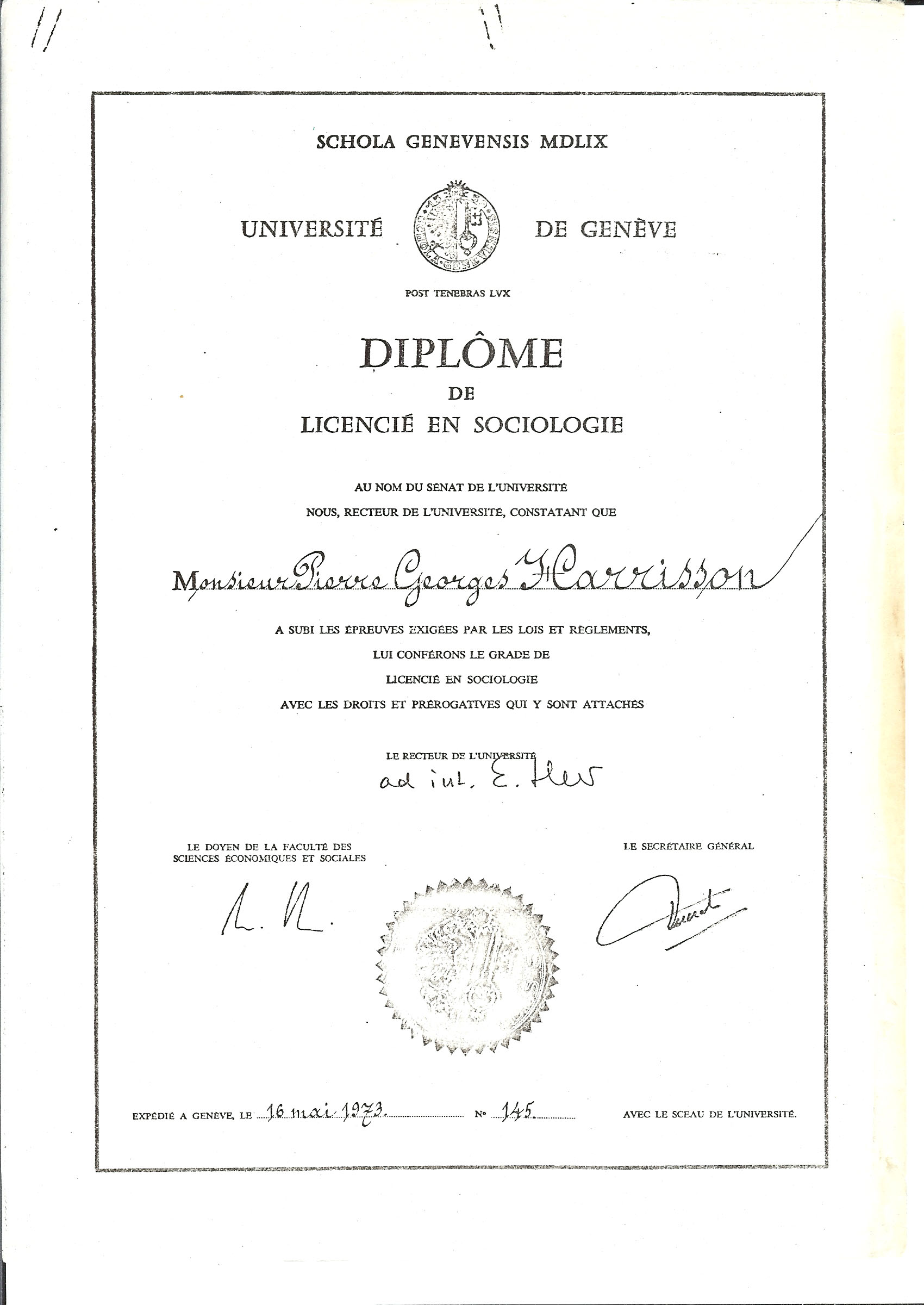 licence en sociologie